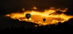 picture of two hot air baloons